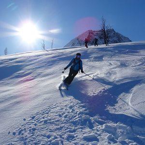 Summit to sea skiiing in the Lyngen Alps